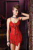 Lace Bra Mesh Babydoll Women Skirts Red Color Sexy Lingerie Nightwear