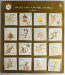 luxury hand crafted Christmas gift tags