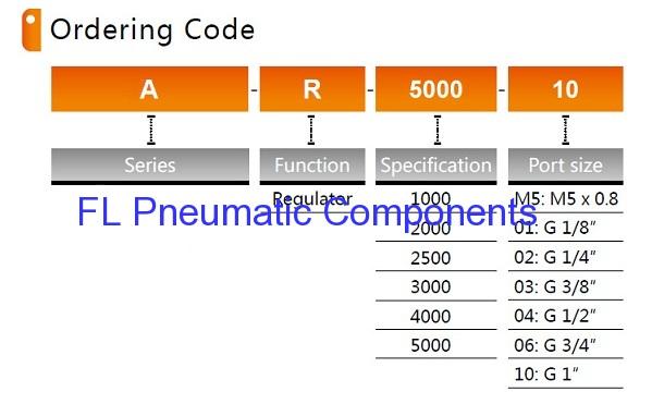AR5000-10 Pneumatic Air Regulators
