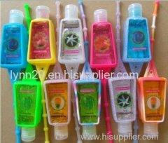 novel and fashionable 29/30ml silicone hand sanitizer holder