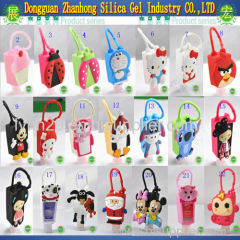 15 different cartoon and animal designs 29/30ml silicone hand sanitizer pocketbac holders