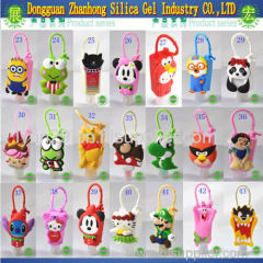 More than 20 different 3D cartoon and animal designs 29/30ml silicone hand sanitizer holder