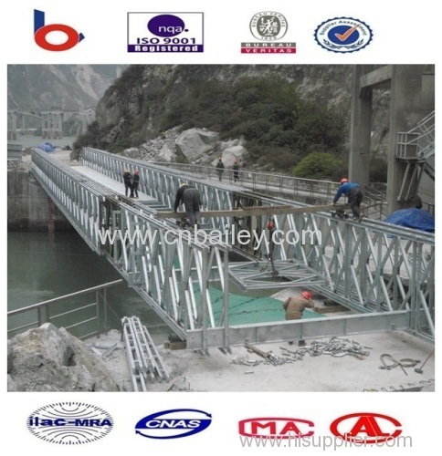 Galvanized bailey steel bridge