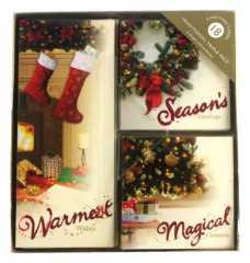 tradtional triple pack Christmas cards