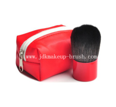 Portable Kabuki Brush with PU Pouch