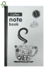 coffee time hardcover notebook college ruled
