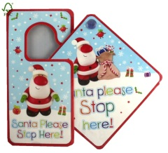 Santa stop here cards and door hanger