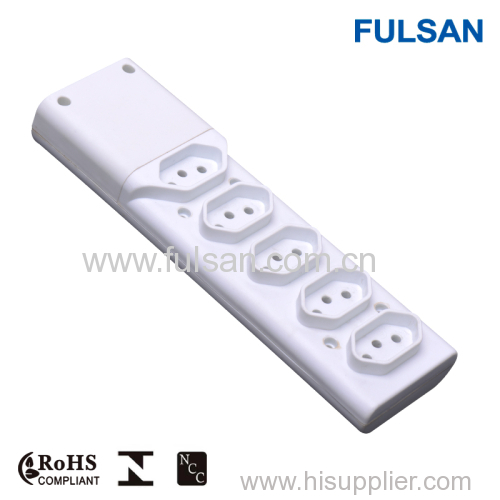ABS fire resistant extension cord multiple socket