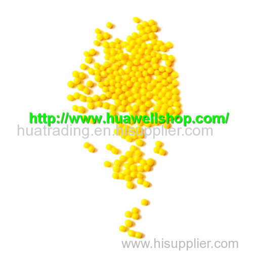 Yellow water beads for flower and plants