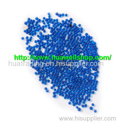 Blue color crystal soil