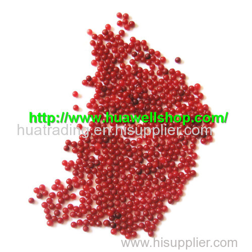 Deep red color crystal soil