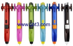 New promotional car shape plastic ballpen with LED light