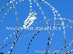 high safe isolation military razor wire mesh fence