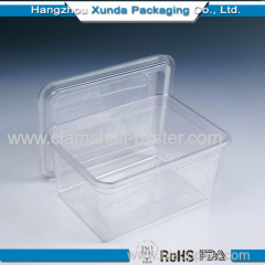 Plastic clear food container