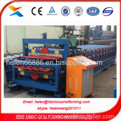 canton fair new design 1000+1000 double layer ce quality wall panel forming machine