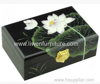 Classical painted wooden box