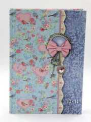 flowers hardcover notebook diary
