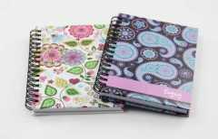 pocket small spiral hardcover notebook