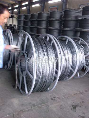 square 8 strands anti twisting galvanized steel wire