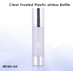 clear airless pump bottles