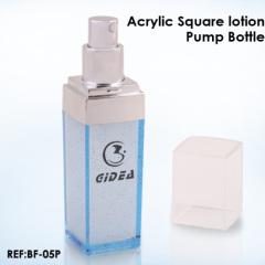 Acrylic square Lotion Bottles