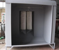 Powder Coating Booth with Cartridge recycling system