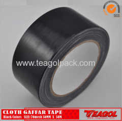 Cloth Gaffar Tape 70mesh Black Color Size: 50mm x 50m