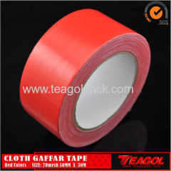 Cloth Gaffar Tape 70mesh Red Color Size: 50mm x 50m