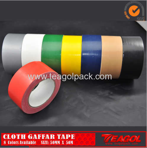 Cloth Duct Tape 50mesh Red Color Size: 50mm x 50m
