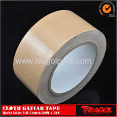 Cloth Gaffar Tape 70mesh Brown Color Size: 50mm x 50m