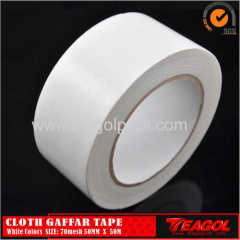 50mmx50M Cloth Gaffar Tape 70mesh White/Silver/Black/Red