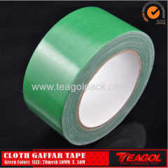 Cloth Gaffar Tape 70mesh Green Color Size: 50mm x 50m