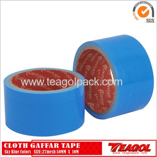 27mesh Cloth Cotton Tape Sky Blue Color Size: 50mm x 10m