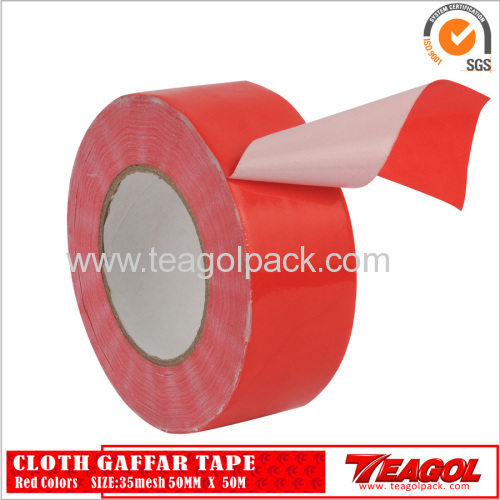 35mesh Cloth Cotton Tape Red Color Size: 48mm x 50m