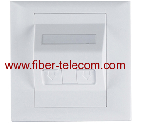1 port Faceplate for Fiber Optic Adaptor 86*86mm