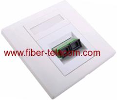 Faceplate di fibra ottica adattatore