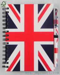England flag joureny notebook with pen