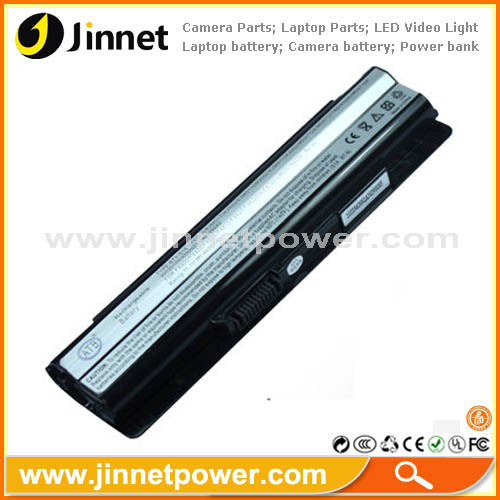 6 Cell replacement notebook battery for MSI BTY-S14 BTY-S15 with high quality