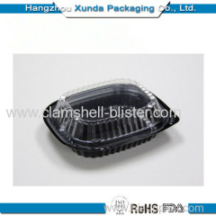 Plastic microwave food box with lid