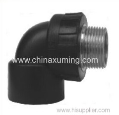 PE Socket Fusion Male Thread 90 Degree Elbow Pipe Fittings