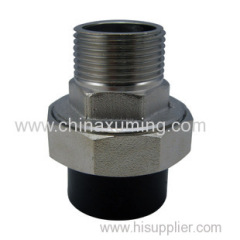 HDPE Socket Male Threaded Union with Brass Insert Fittings