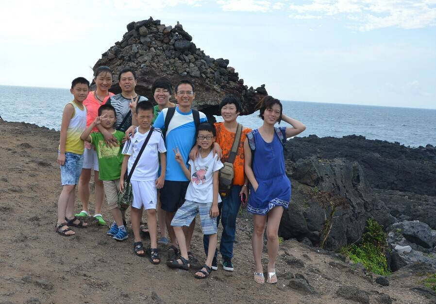 Part of the company colleagues and family travel to Jeju Island, Korea in July,2013