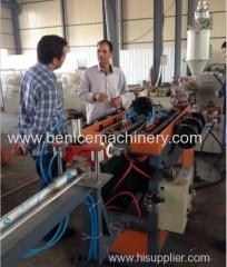 Corrugated pipe extrusion line