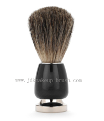 Shaving brush with fancy handle