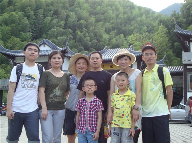 Part of the company colleagues and family travel to Huangshan,China in July,2012.