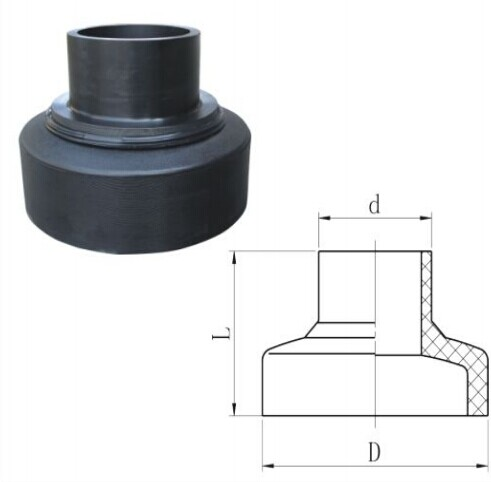 HDPE Butt Fusion Post Forming Redecing Coupling Pipe Fittings