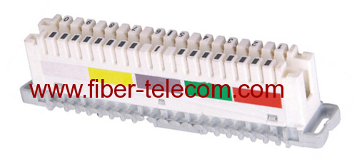 10 pair Disconnection Module with lable cream color