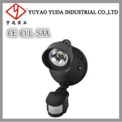 80 develed single head led light with PIR-sensor