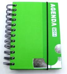 2014 agenda notebook with elastic