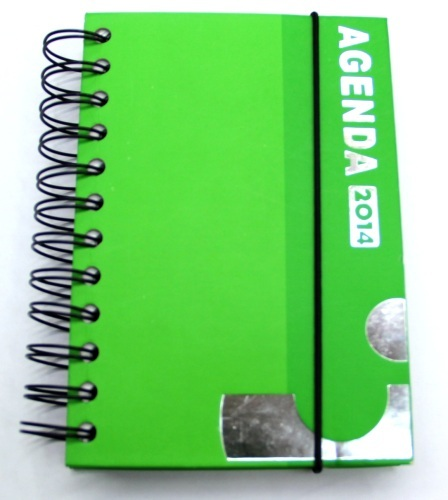 2014 agenda notebook with elastic